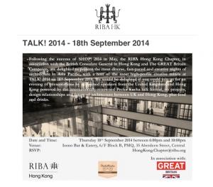 RIBA Talk! 2014