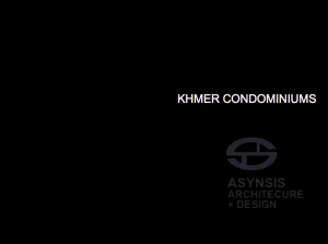 Khmer Condominiums - Contextual but Contemporary